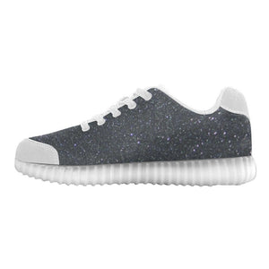 Black Glitter Light Up Casual Men's Shoes