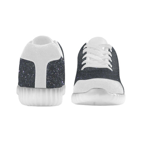 Black Glitter Light Up Casual Men's Shoes-Light Up Shoes-JEFAMO