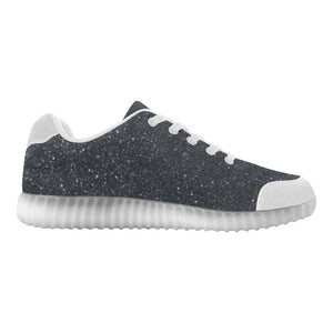 Black Glitter Light Up Casual Women's Shoes
