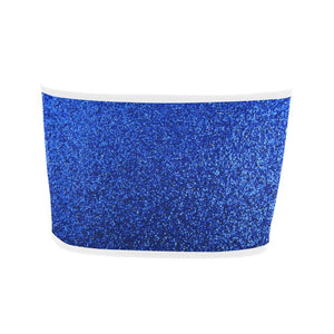 Blue Glitter Bandeau Top