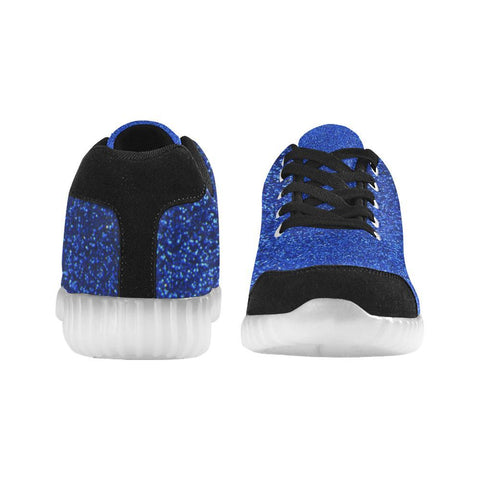 Blue Glitter Light Up Casual Men's Shoes-Light Up Shoes-JEFAMO