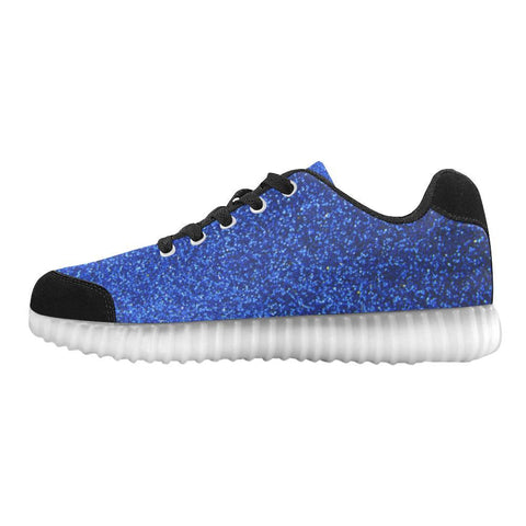 Blue Glitter Light Up Casual Women's Shoes-Light Up Shoes-JEFAMO