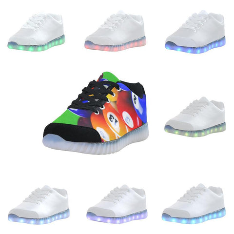 Bowling Design 1 Light Up Casual Men's Shoes-Light Up Shoes-JEFAMO