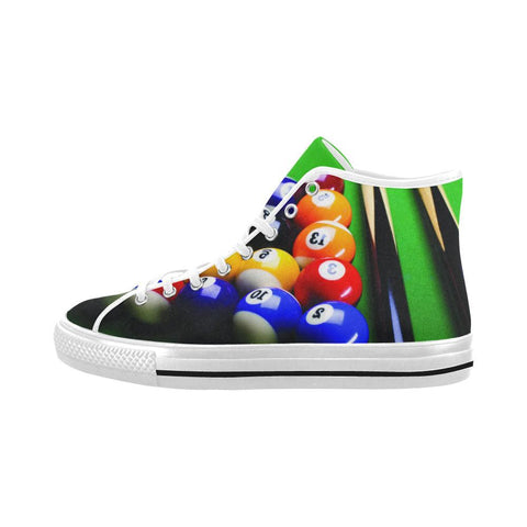 Bowling Design 1 Vancouver High Top Canvas Men's Shoes-Canvas Shoes-JEFAMO