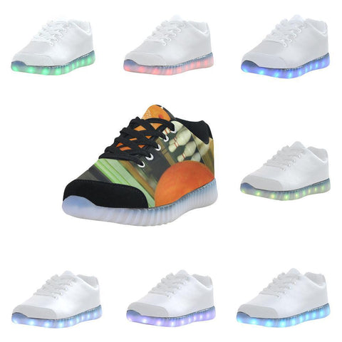 Bowling Design 2 Light Up Casual Men's Shoes-Light Up Shoes-JEFAMO