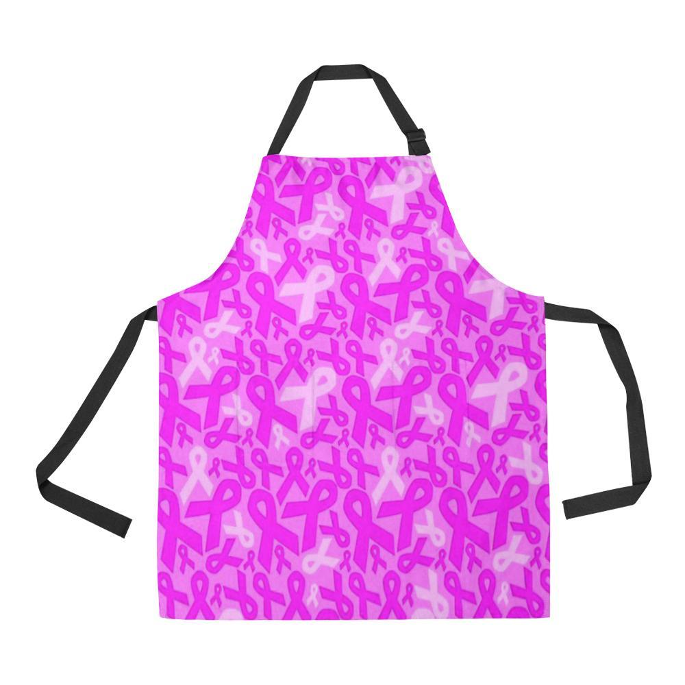 Breast Cancer Awareness Design 1 All Over Print Adjustable Apron-Aprons-JEFAMO