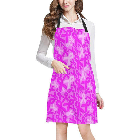 Image of Breast Cancer Awareness Design 1 All Over Print Adjustable Apron-Aprons-JEFAMO