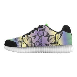 Butterfly Design 1 Light Up Casual Men's Shoes