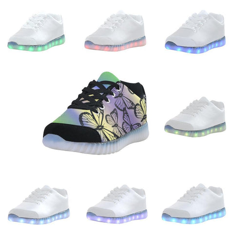 Butterfly Design 1 Light Up Casual Men's Shoes-Light Up Shoes-JEFAMO