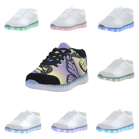 Butterfly Design 1 Light Up Casual Women's Shoes-Light Up Shoes-JEFAMO
