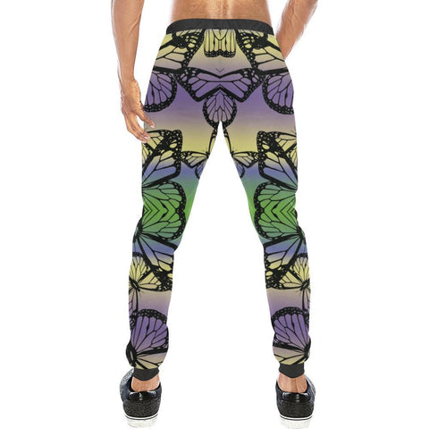 Butterfly Design 1 Men's All Over Print Casual Jogger Pants-Pants-JEFAMO