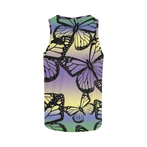 Butterfly Design 1 Men's All Over Print Tank Top-Tank Tops-JEFAMO