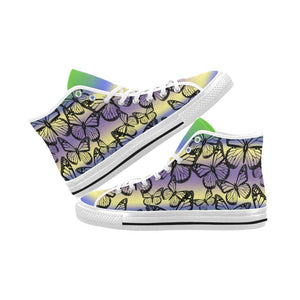 Butterfly Design 1 Vancouver High Top Canvas Men's Shoes