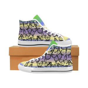 Butterfly Design 1 Vancouver High Top Canvas Men's Shoes-Canvas Shoes-JEFAMO