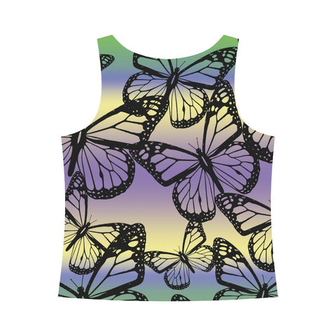 Butterfly Design 1 Women's All Over Print Tank Top-Tank Tops-JEFAMO