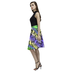 Butterfly Design 1 Women's Pleated Midi Skirt