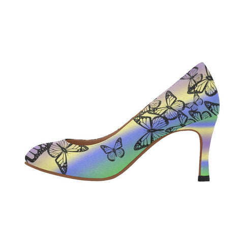 Butterfly Design 1 Women's Pumps-High Heels-JEFAMO