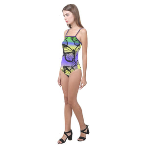 Butterfly Design 1 Women's Slip One Piece Swimsuit