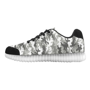 Camouflage Design 1 Light Up Casual Women's Shoes