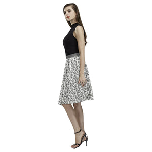 Camouflage Design 1 Women's Pleated Midi Skirt
