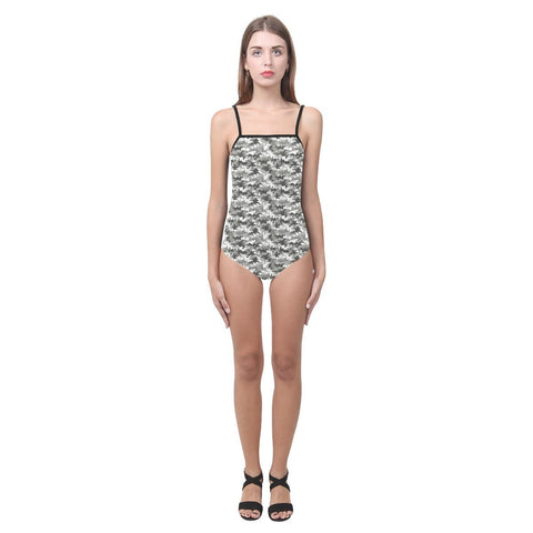 Camouflage Design 1 Women's Slip One Piece Swimsuit-Swimwear-JEFAMO