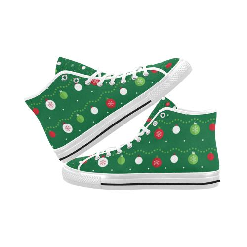 Christmas Pattern 2 Vancouver High Top Canvas Men's Shoes (Model1013-1)-Canvas Shoes-JEFAMO