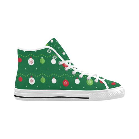 Image of Christmas Pattern 2 Vancouver High Top Canvas Men's Shoes (Model1013-1)-Canvas Shoes-JEFAMO