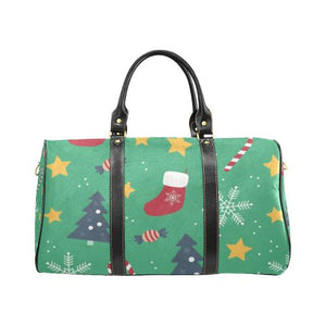 Christmas Pattern 4 Travel Bag Black (Small) (Model1639)