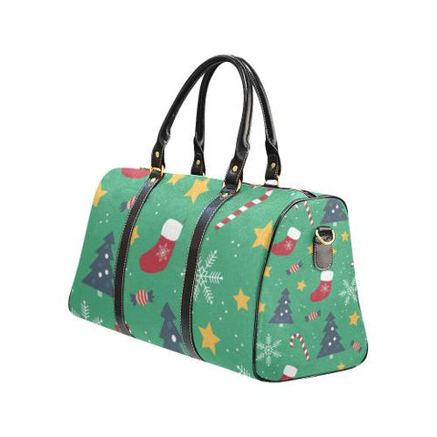 Christmas Pattern 4 Travel Bag Black (Small) (Model1639)-Travel Bags-JEFAMO