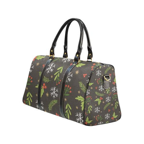Christmas Pattern 5 Travel Bag Black (Small) (Model1639)-Travel Bags-JEFAMO