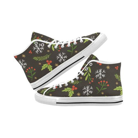 Image of Christmas Pattern 5 Vancouver High Top Canvas Men's Shoes (Model1013-1)-Canvas Shoes-JEFAMO