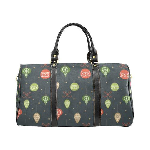 Christmas Pattern 6 Travel Bag Black (Small) (Model1639)-Travel Bags-JEFAMO