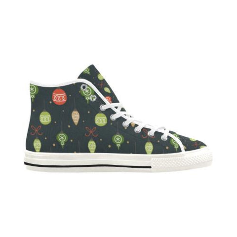 Image of Christmas Pattern 6 Vancouver High Top Canvas Women's Shoes (Model1013-1)-Canvas Shoes-JEFAMO