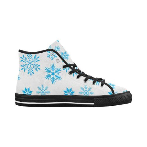 Image of Christmas Pattern 7 Vancouver High Top Canvas Men's Shoes (Model1013-1)-Canvas Shoes-JEFAMO