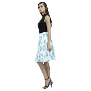 Christmas Pattern 7 Women's Pleated Midi Skirt (Model D15)