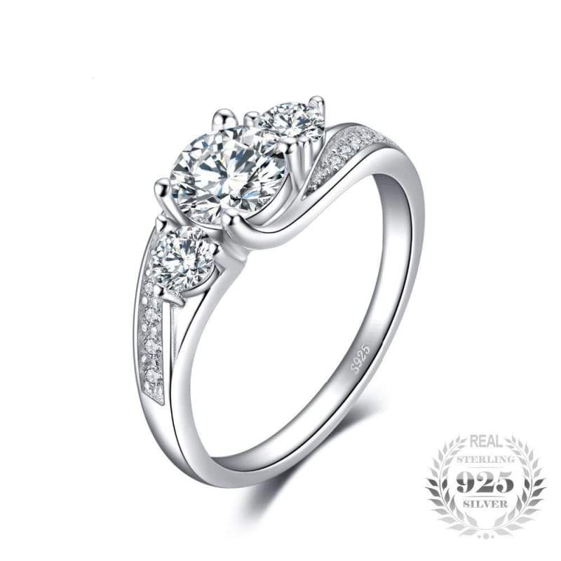 Classic Cubic Zirconia Promise Ring 925 Sterling Silver-JP_RINGS-JEFAMO