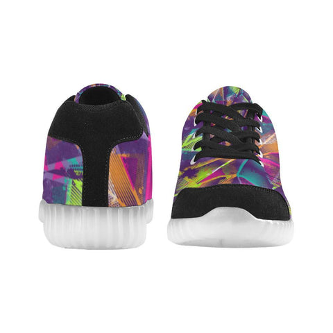 Colorful Prism Triangles Design 1 Light Up Casual Women's Shoes-Light Up Shoes-JEFAMO