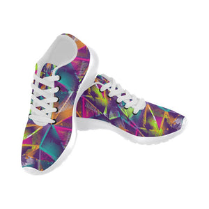 Colorful Prism Triangles Design 1 Women's Sneakers