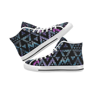Colorful Prism Triangles Design 2 Vancouver High Top Canvas Men's Shoes