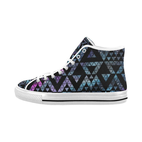 Colorful Prism Triangles Design 2 Vancouver High Top Canvas Men's Shoes-Canvas Shoes-JEFAMO