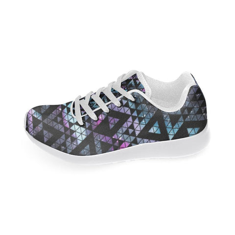 Colorful Prism Triangles Design 2 Women's Sneakers-Sneakers-JEFAMO