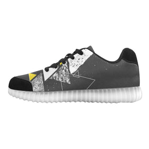 Colorful Prism Triangles Design 3 Light Up Casual Men's Shoes