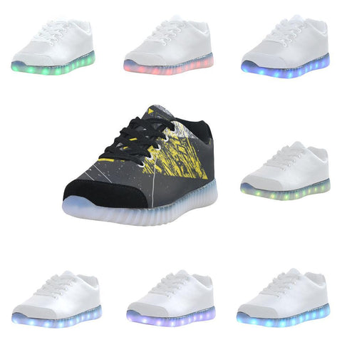 Colorful Prism Triangles Design 3 Light Up Casual Women's Shoes-Light Up Shoes-JEFAMO