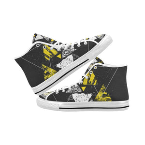Colorful Prism Triangles Design 3 Vancouver High Top Canvas Men's Shoes