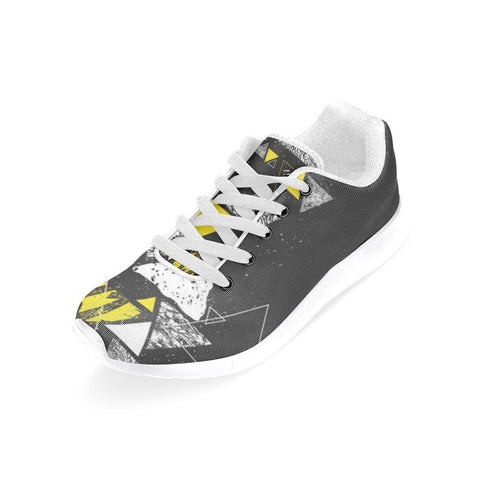 Colorful Prism Triangles Design 3 Women's Sneakers-Sneakers-JEFAMO