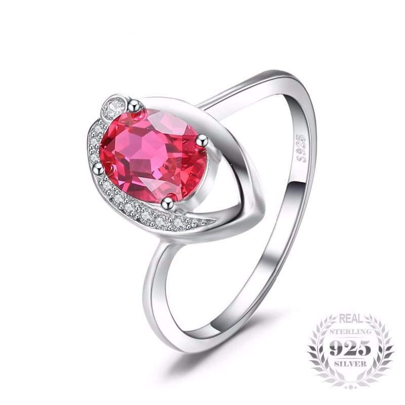 Created Red Ruby Eye Ring 925 Sterling Silver-JP_RINGS-JEFAMO