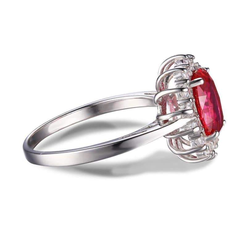 Created Red Ruby Oval Ring 925 Sterling Silver-JP_RINGS-JEFAMO