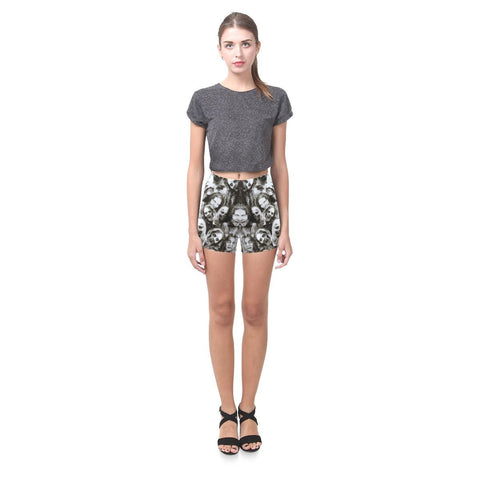 Image of Creeper Z Zombies All-Over Skinny Shorts-Leggings-JEFAMO