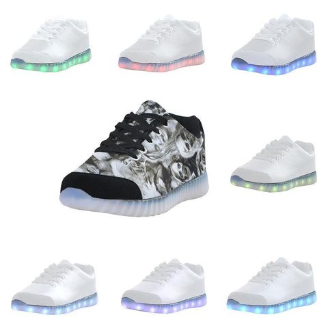 Image of Creeper Z Zombies Light Up Casual Men's Shoes-Light Up Shoes-JEFAMO