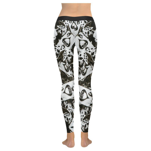 Image of Dice and Spades Skulls All-Over Low Rise Leggings-Leggings-JEFAMO